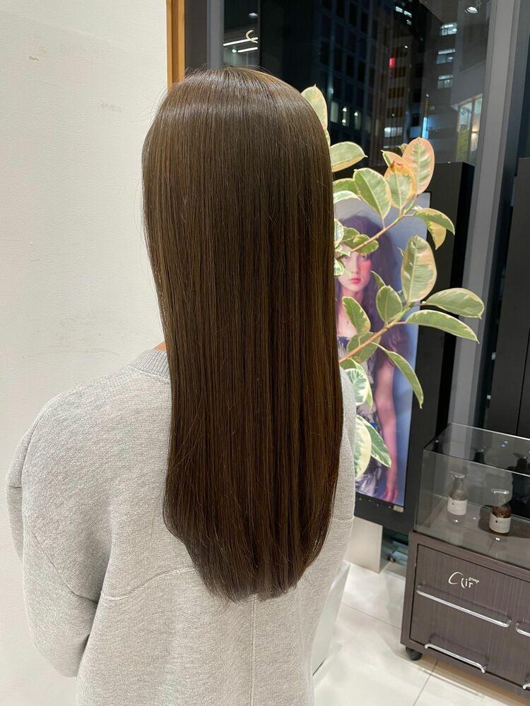 初回指名予約で20%オフ❣️💎圧倒的艶感💎髪質改善トリートメント+透明感カラー