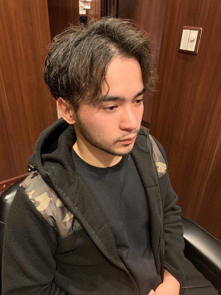 スパイラルパーマ センターパート 登坂広臣 田町 理容室