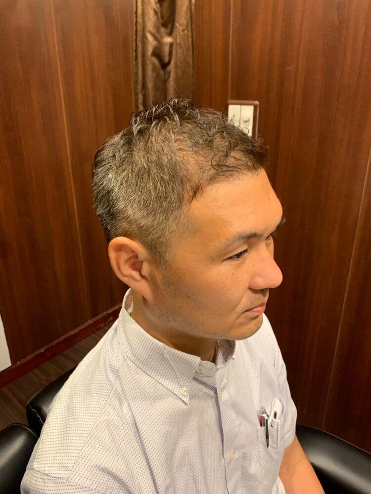 ソフトモヒカン メンズショート 田町 理容室 ヘッドスパ 床屋 シェービング