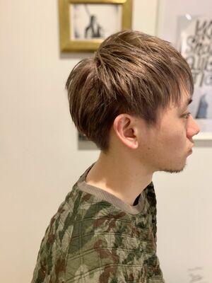 メンズショート/ハイトーンミルクティーベージュ