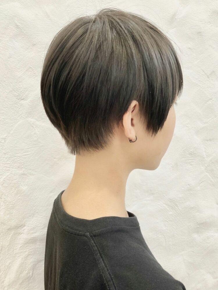 ナチュラルショートヘア/地毛風カラー