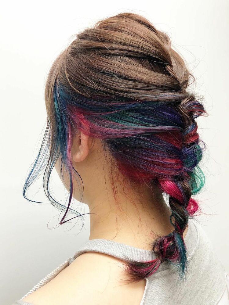 インナーキャラフル派手髪