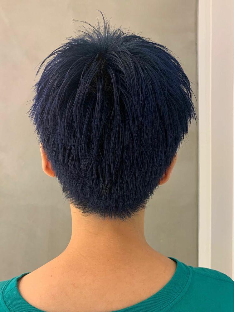 ベリショ×青髪