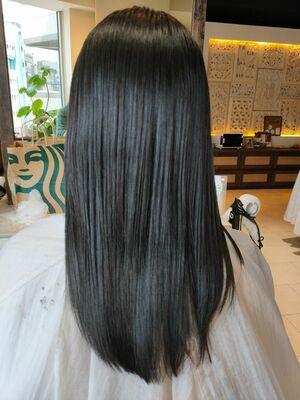 30代色っぽヘア☆☆ダークなアッシュベージュはAvedaカラーでツヤ髪にしました!