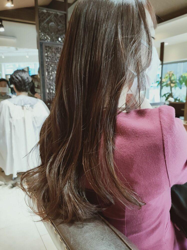 愛されゆる巻きヘア☆☆スローカラーで、ピンクベージュの11トーンで春らしくしました!^_^