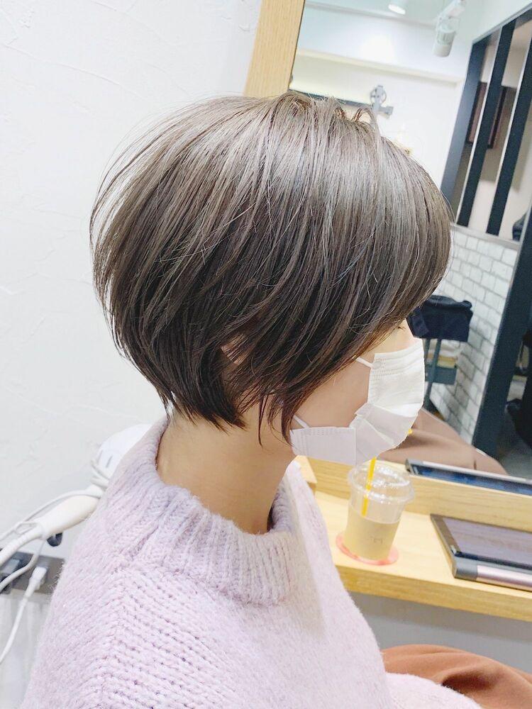 「mag」ひし形シルエット・絶壁解消・横顔美人・大人クールショート・アッシュベージュ・永田カズヤ