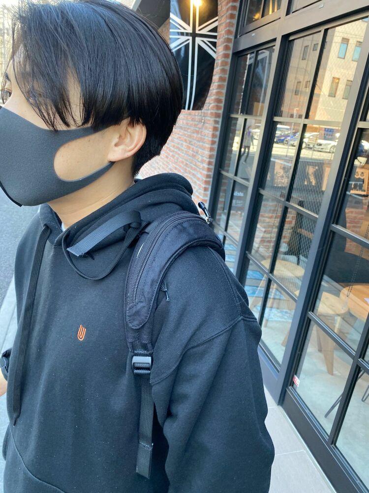 ハンサムショート/センターパートマッシュ/韓流マッシュ