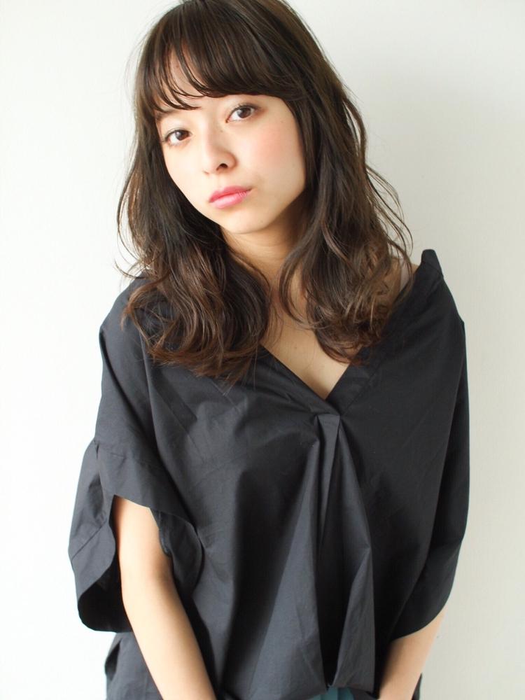 表参道  山口祥   大人気の柔らかなセミロングラフパーマでおしゃれ可愛いヘア