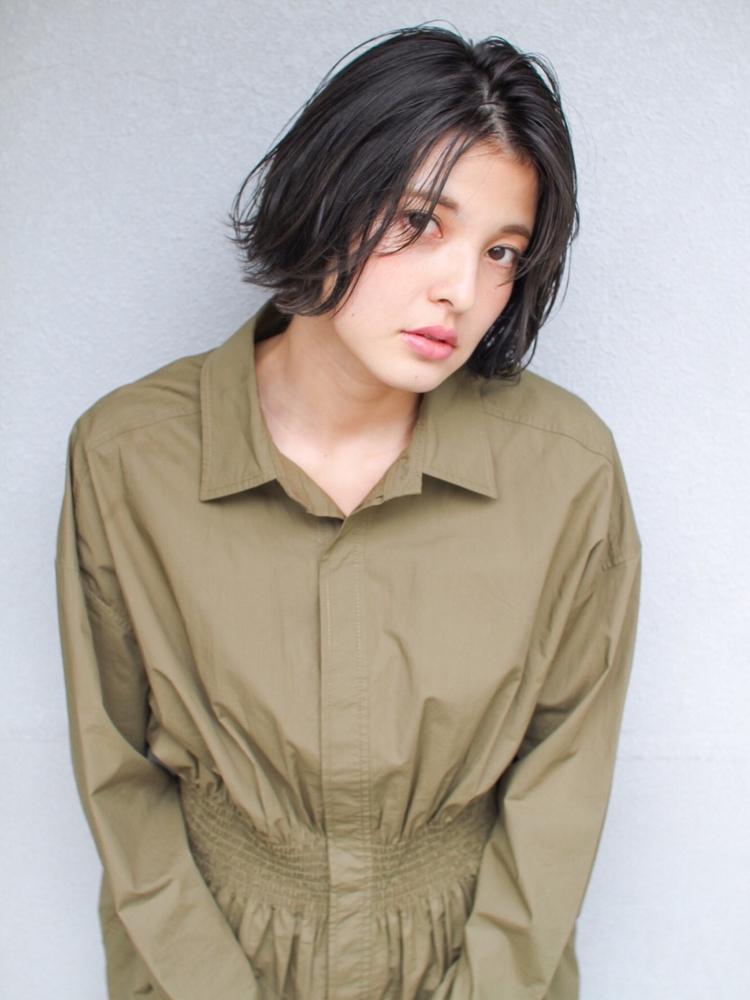 表参道  山口祥  黒髪でもおしゃれに見えるボブスタイル