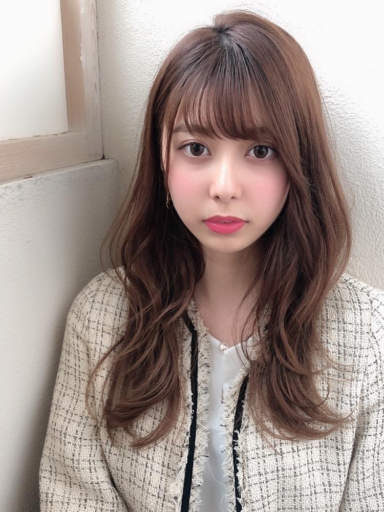 表参道   山口祥   ゆるいカールでおしゃれ可愛く透け感前髪が可愛さの秘訣