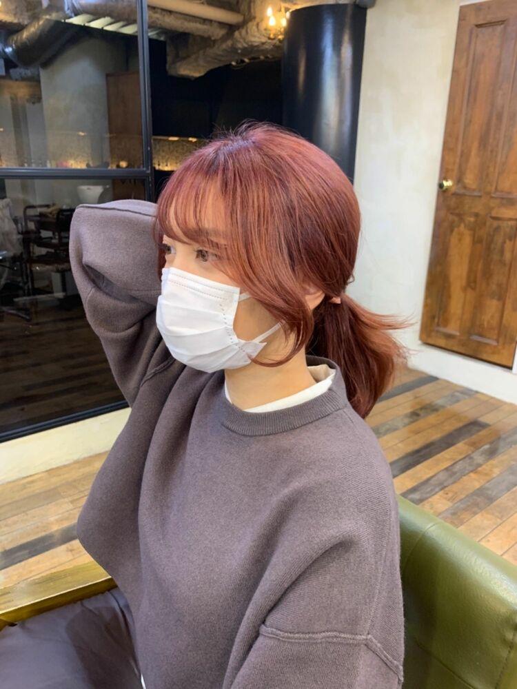 韓国風後れ毛