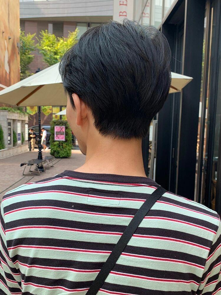 韓国男子風ショートヘア