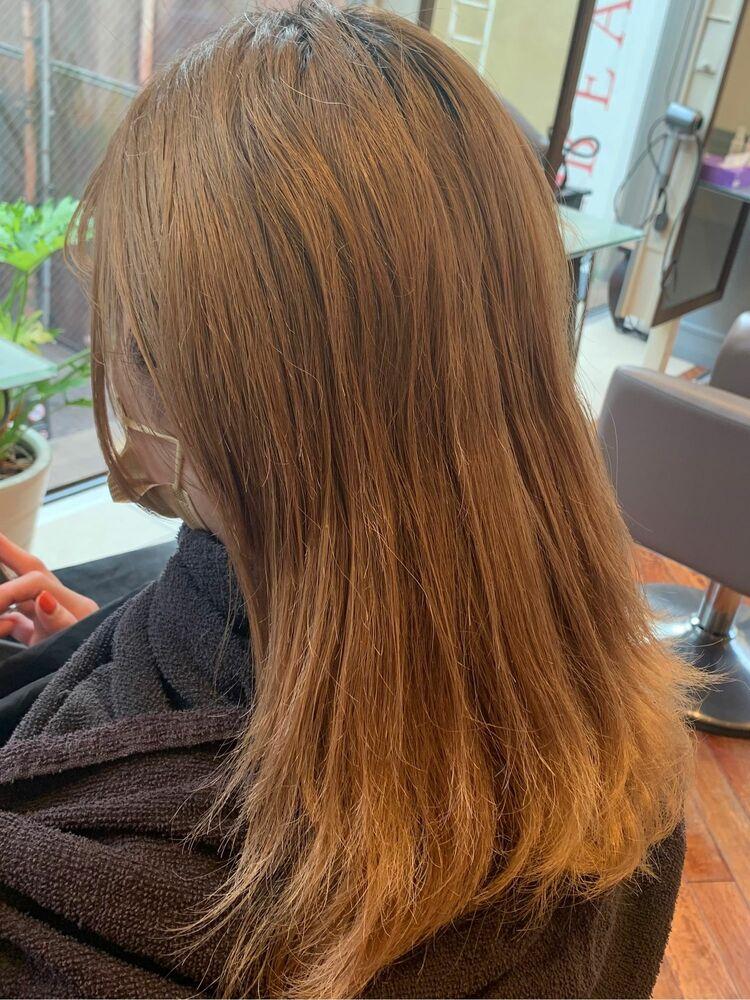ペールオレンジヘアカラー