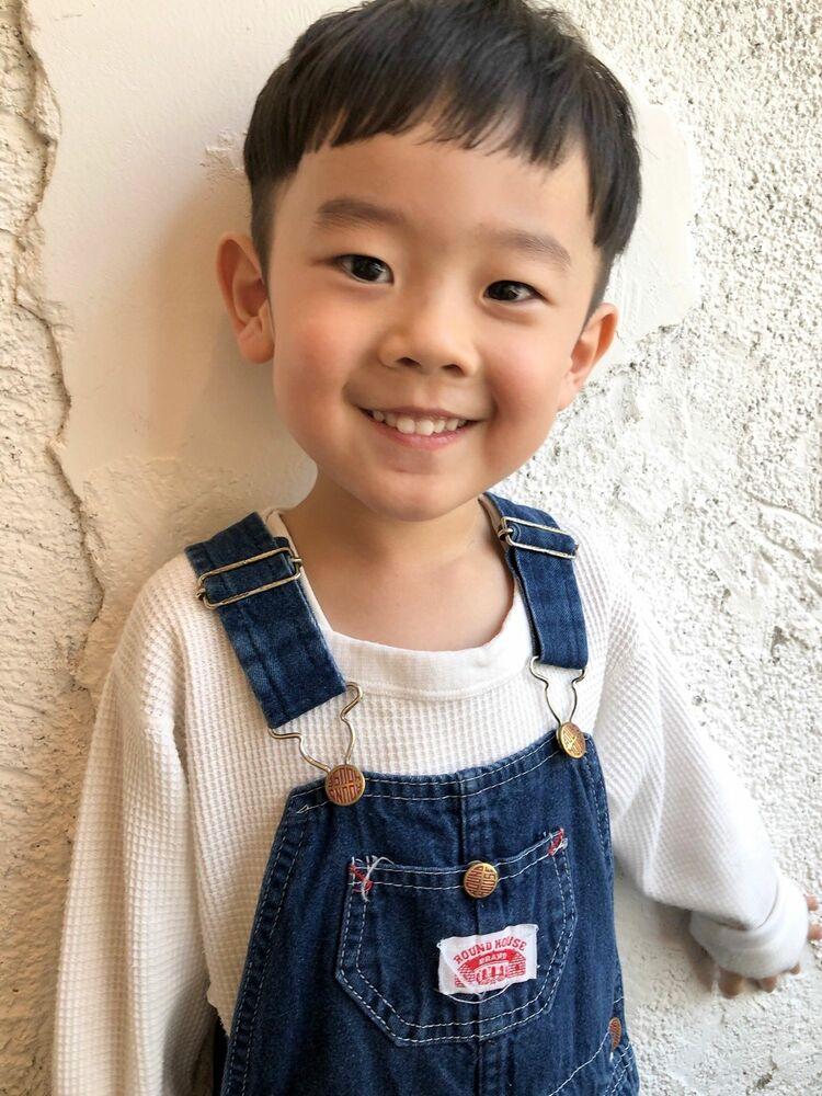 キッズカット東京/男の子マッシュヘア