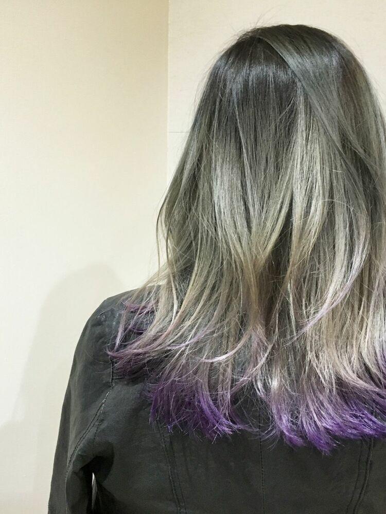 毛先カラーパープル