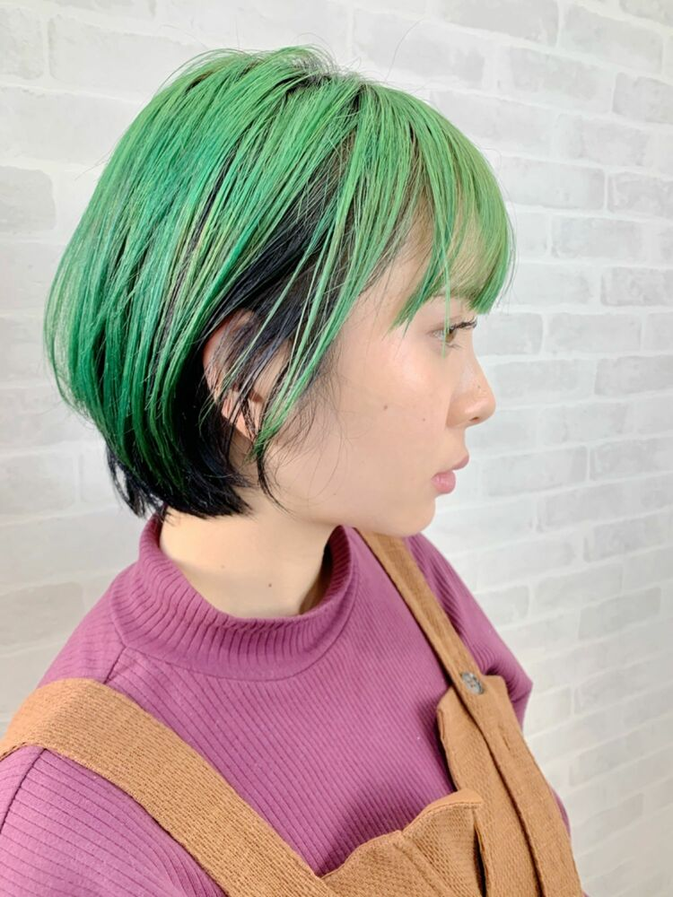 グリーンカラーショート