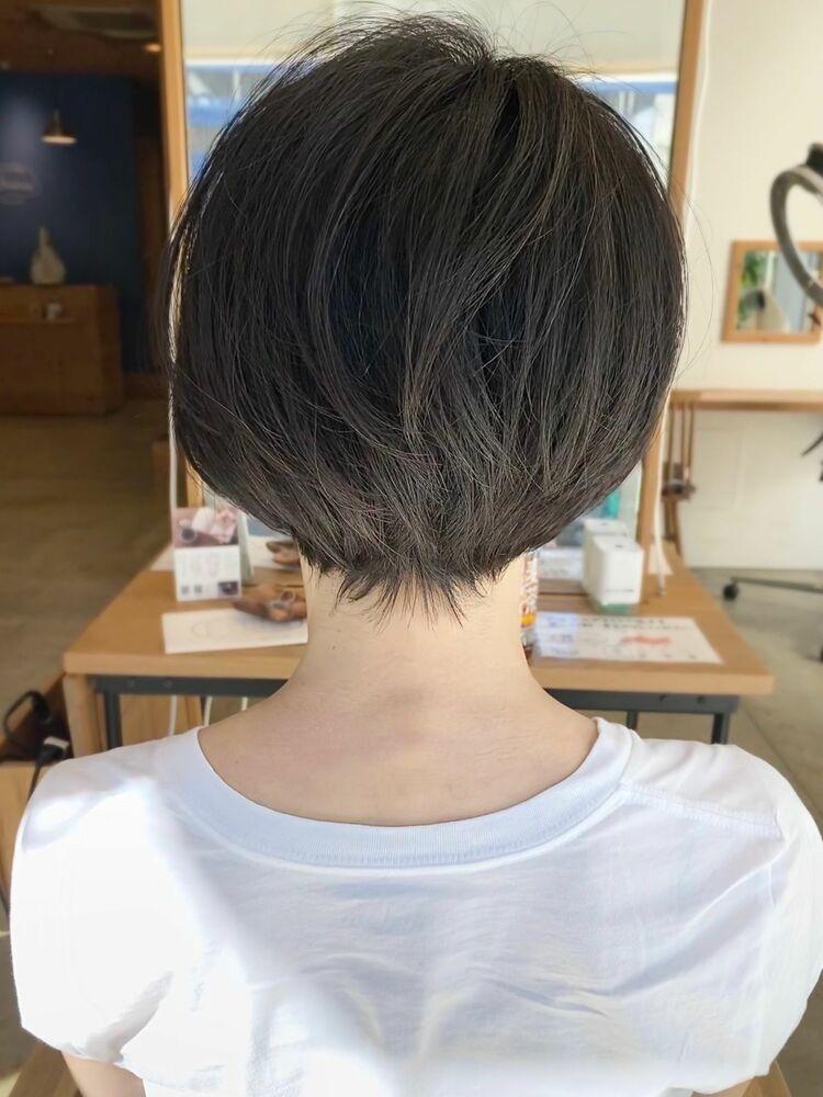 横顔美人ショート/耳掛けショート 304050代