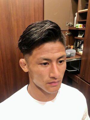 震災フェード❣️パーマで色気を追加❣️理容室 五反田 バーバー barber