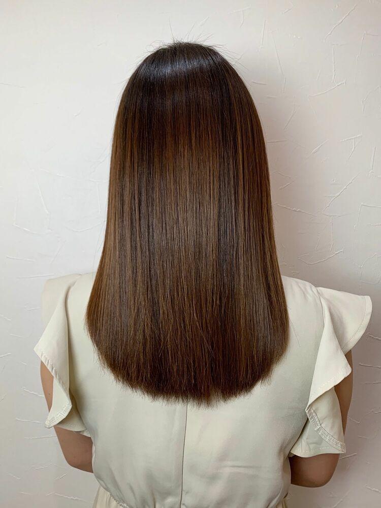 髪質改善✴︎サロンソリューショントリートメント✴︎ツヤツヤベージュカラー