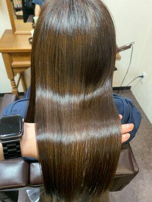 髪質改善✨酸熱トリートメント・サロンソリューション×胸上ロング
