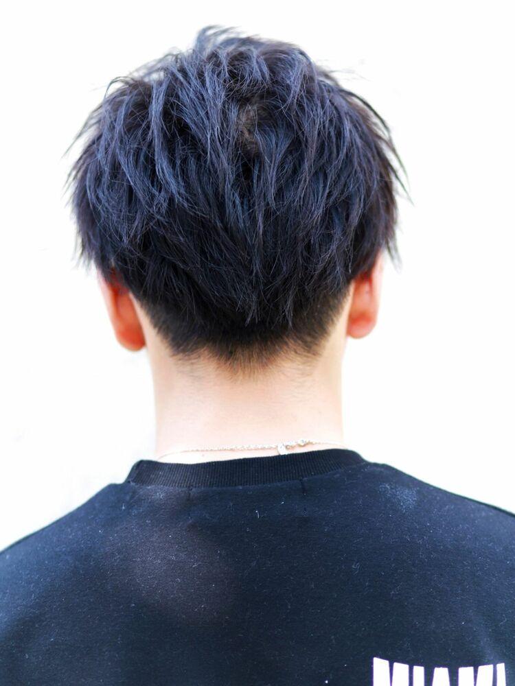 """爽やかツーブロック""""無造作束感ショート"""""""