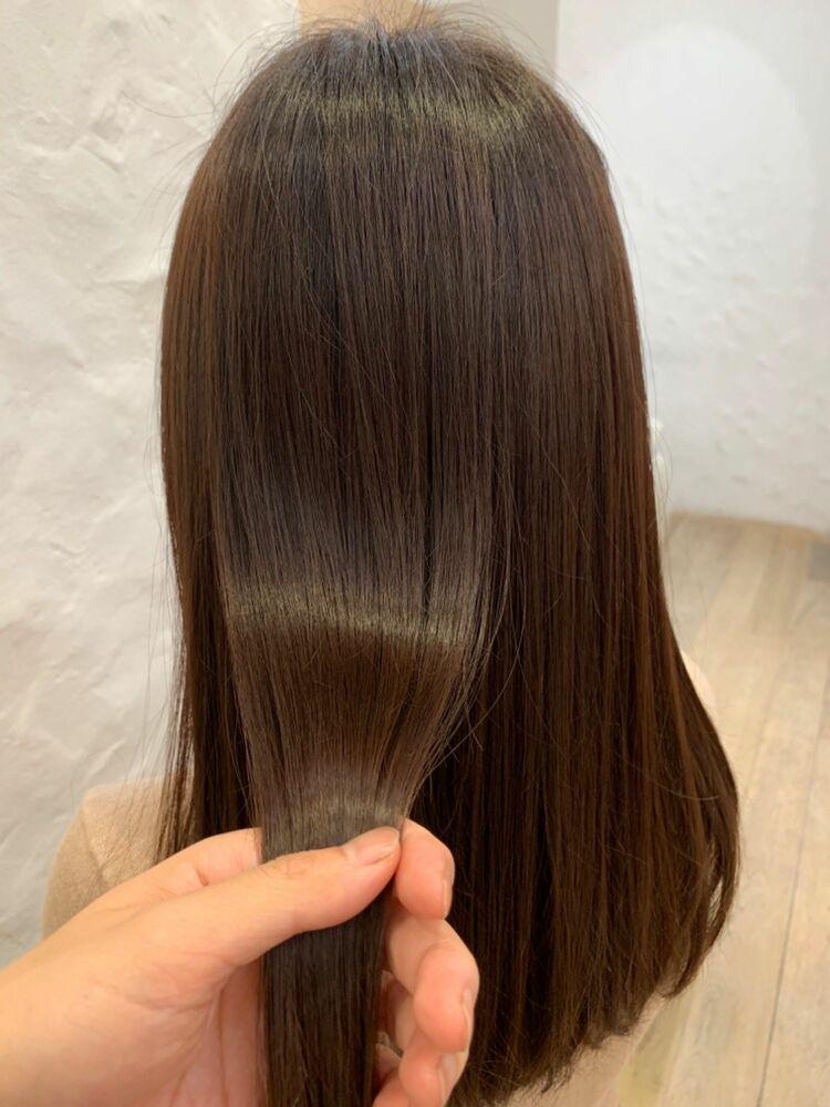 髪質改善トリートメントで艶髪ロング