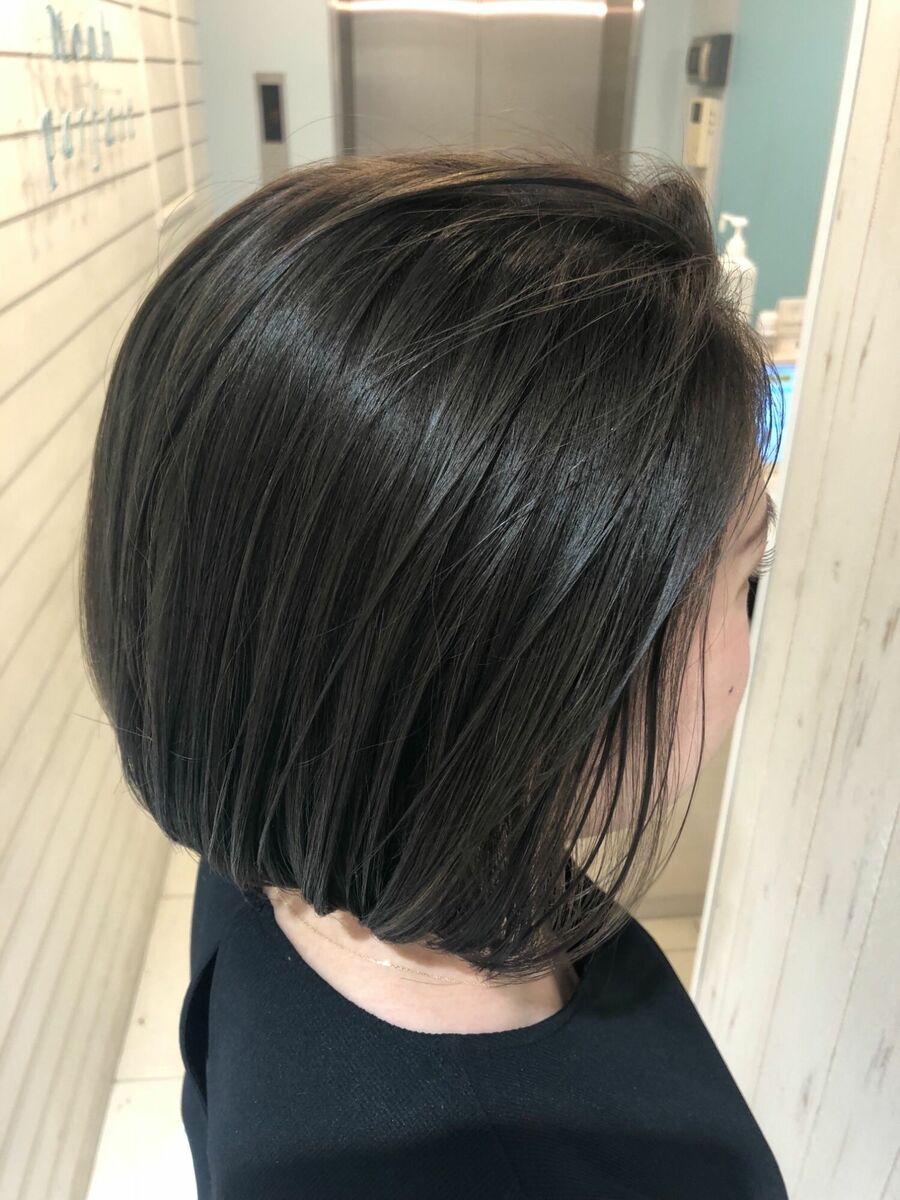 2020s/sイヤリングカラー&ハイライトミックス髪質改善似合わせグレージュ