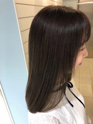 2020s/s オススメ髪質改善カラーグリーンティーベージュ