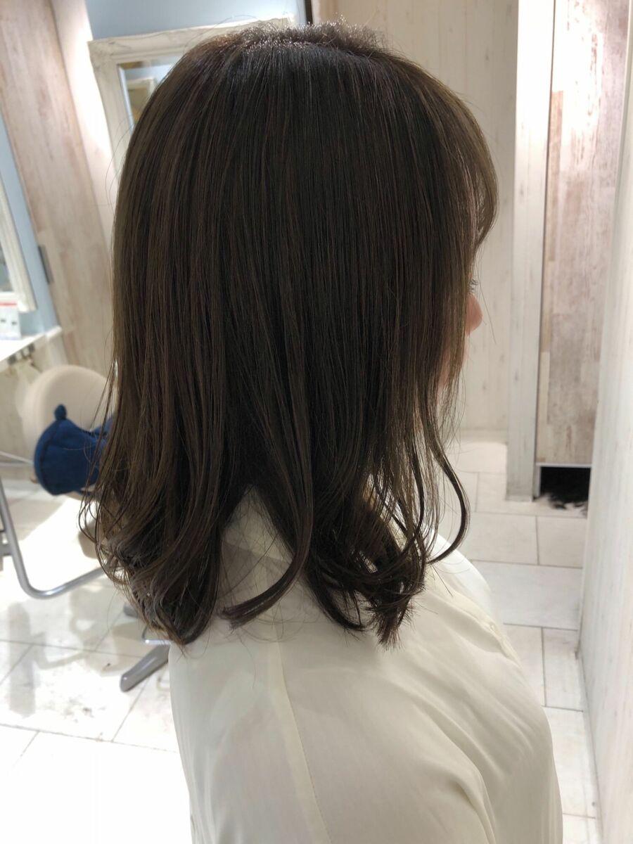 暗めでもオシャレを楽しみたい方にもオススメ髪質改善似合わせカーキベージュ
