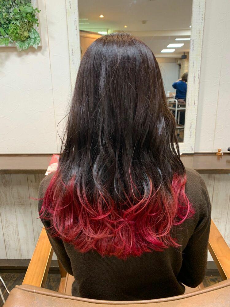 グラデーションカラー赤