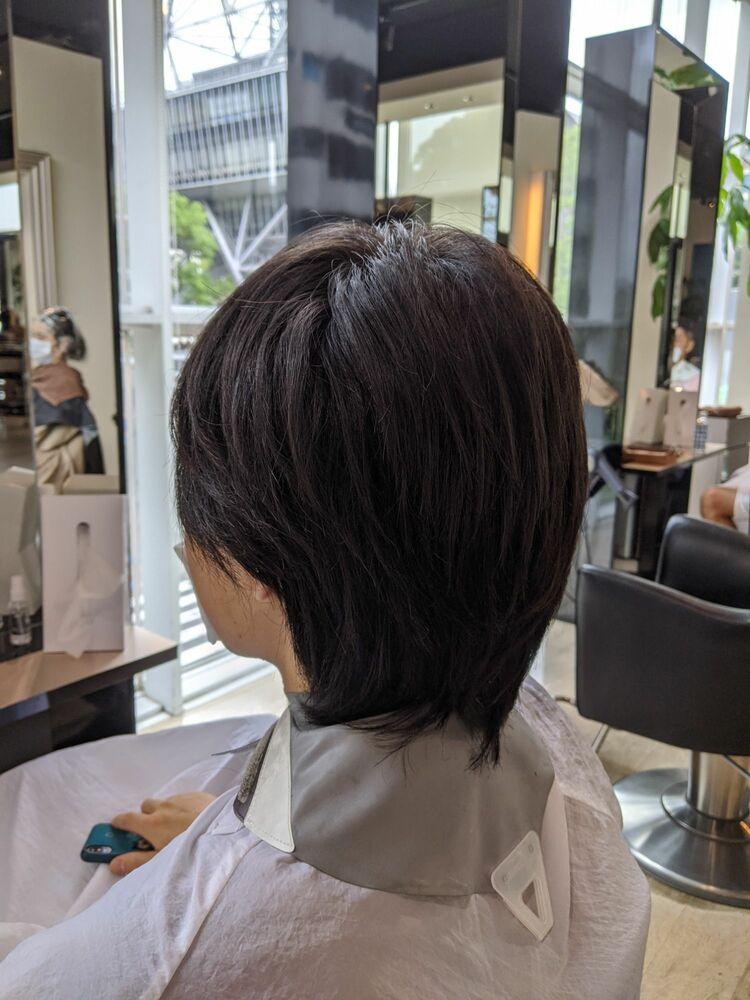 MissEssence甲斐/ゲストスナップ メンズショート 刈り上げ アップバング ビジネススタイル