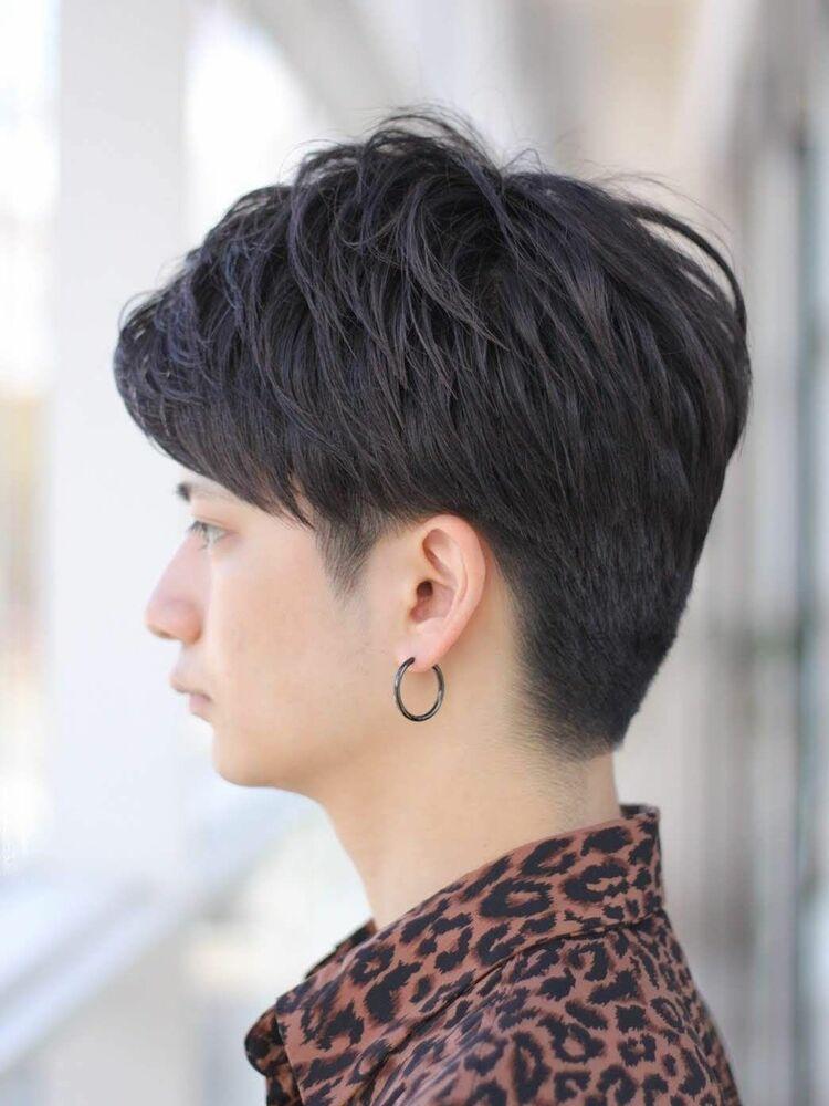 MissEssence甲斐/セクシー✕アップバング 刈り上げ メンズ ショート ひし形 シルエット