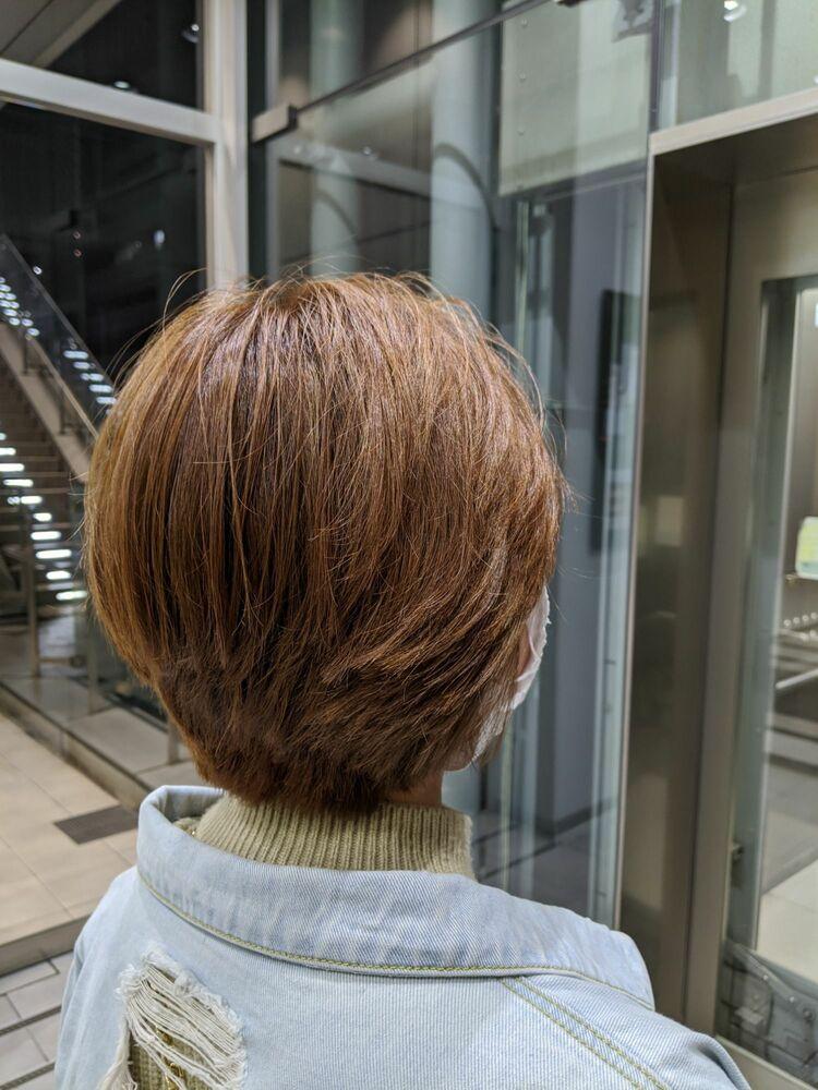 MissEssence甲斐/レディース ゲストスナップ ショート女子 ブリーチオンカラー 小顔 卵型