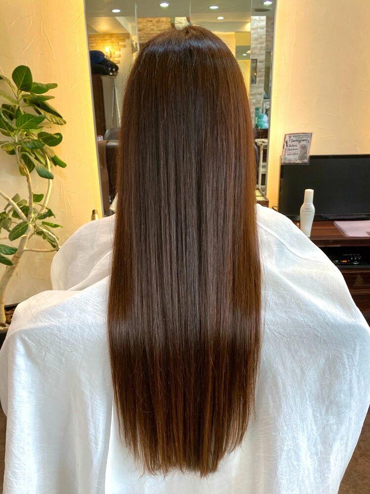 スーパーロングヘアも髪質改善トリートメントでさらさら艶々に♪