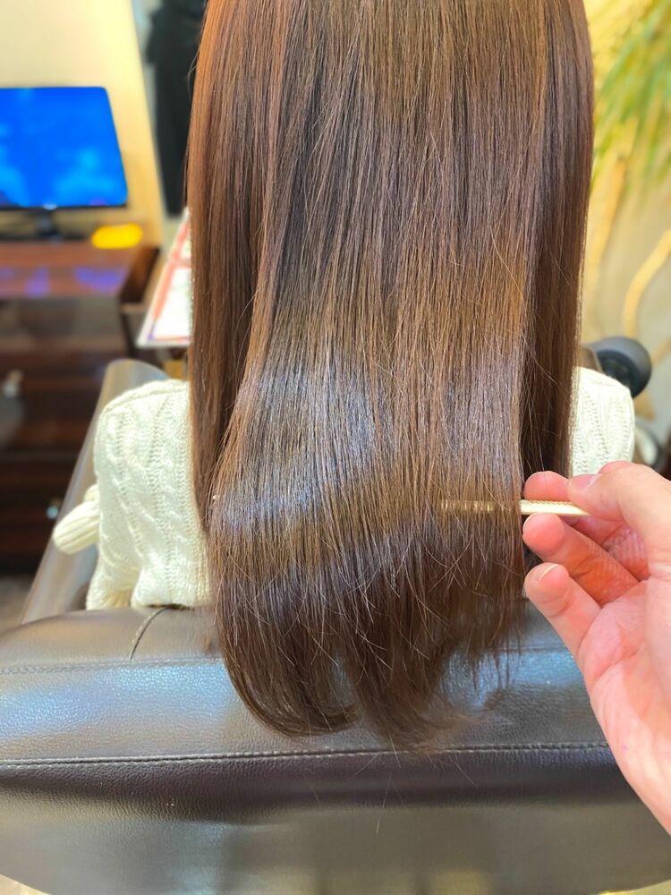 髪質改善&AVEDA艶カラーでサラサラ艶々な大人髪