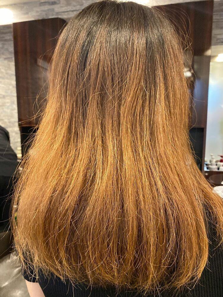 オリーブグレージュ✘髪質改善でバッサリイメチェン!