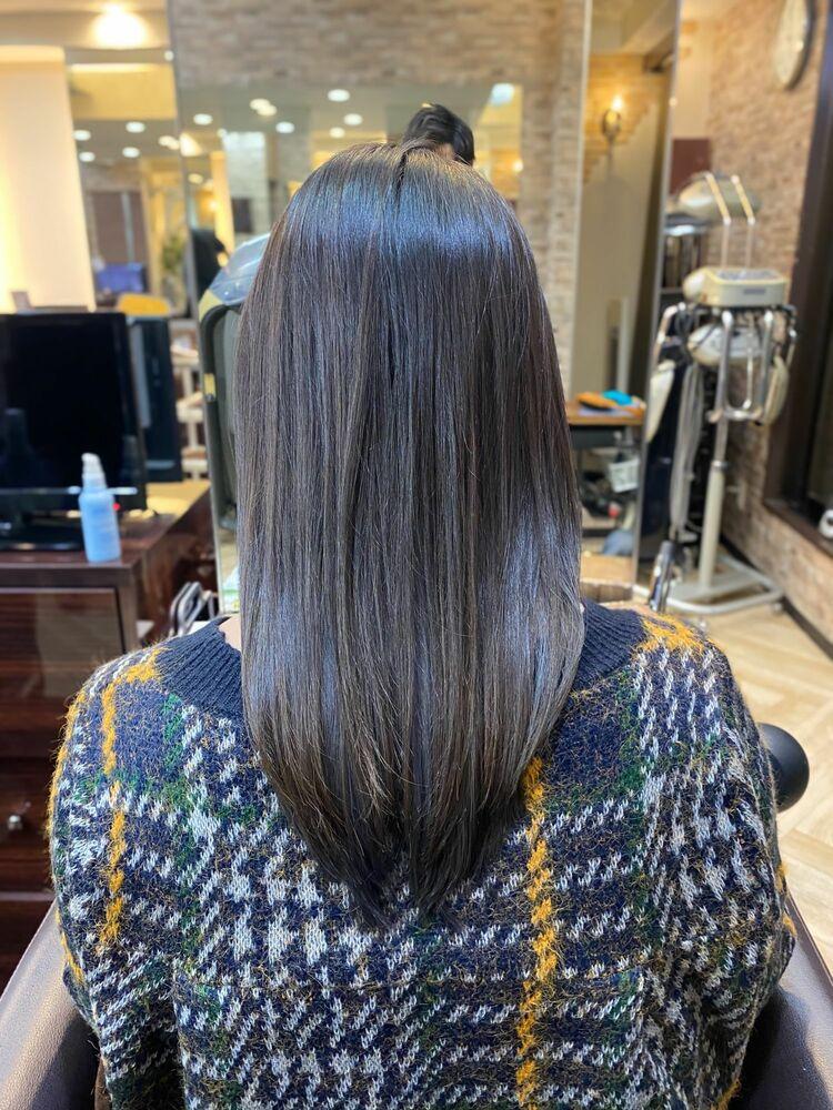 髪質改善&グレージュインナー