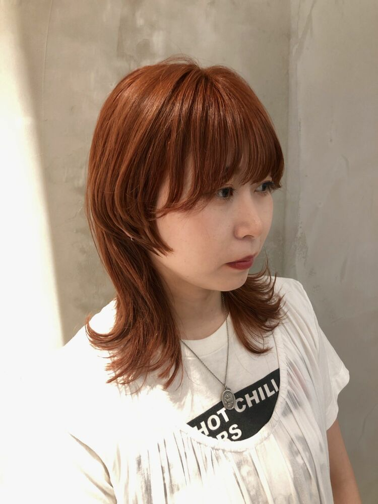 マッシュウルフ×オレンジヘア