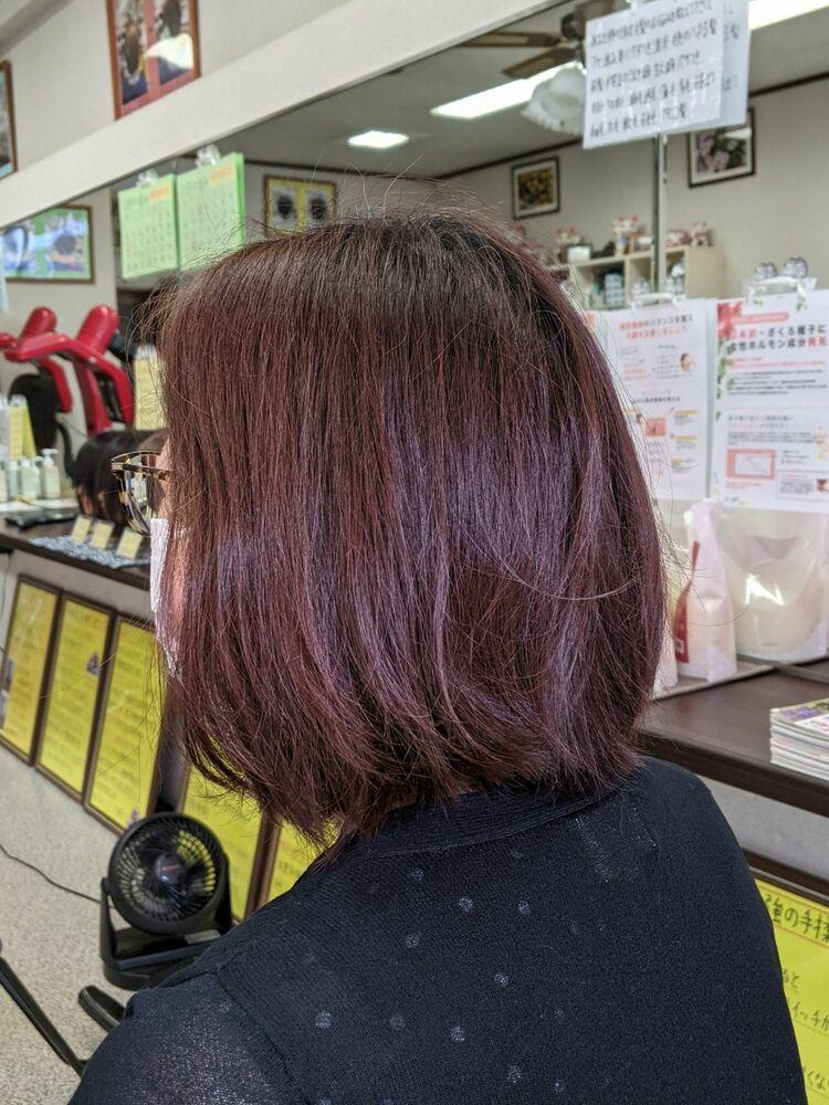 疲れを癒す★定番白髪染め低刺激ヘアカラー&ヘアカット···¥8,100(2時間)