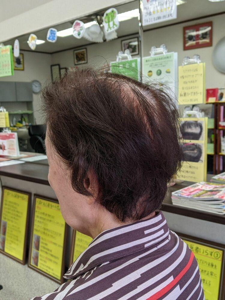 疲れを癒やす★定番白髪染め低刺激ヘアカラー&ヘアカット···¥8,100(2時間)