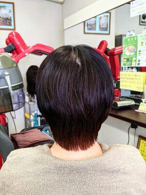 頭皮·髪を労る白髪染め★潤いある滑らかな艶ヘアマニキュア&ヘアカット···¥8,100(2時間)