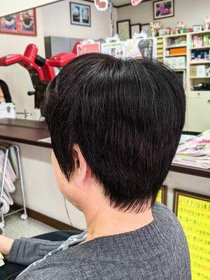 疲れを癒す定番白髪染め★低刺激ヘアカラー&ヘアカット···¥8,100(2時間)
