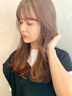 ナチュラルなロング✖️前髪🌈