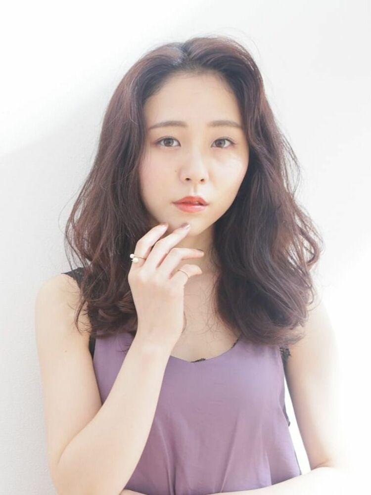 韓国風ラベンダーアッシュスタイル
