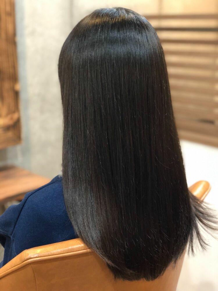 Tree Hair Salon 藤田健太郎暗髪ストレートアッシュカラー