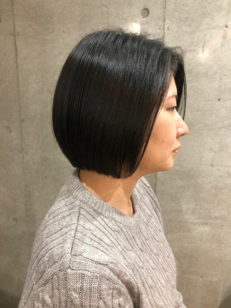 Tree Hair Salon 藤田健太郎シンプルでツヤ感あるボブスタイル