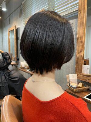 大人の黒髪美シルエットショート「学芸大学」「髪質改善」「オッジィオット」