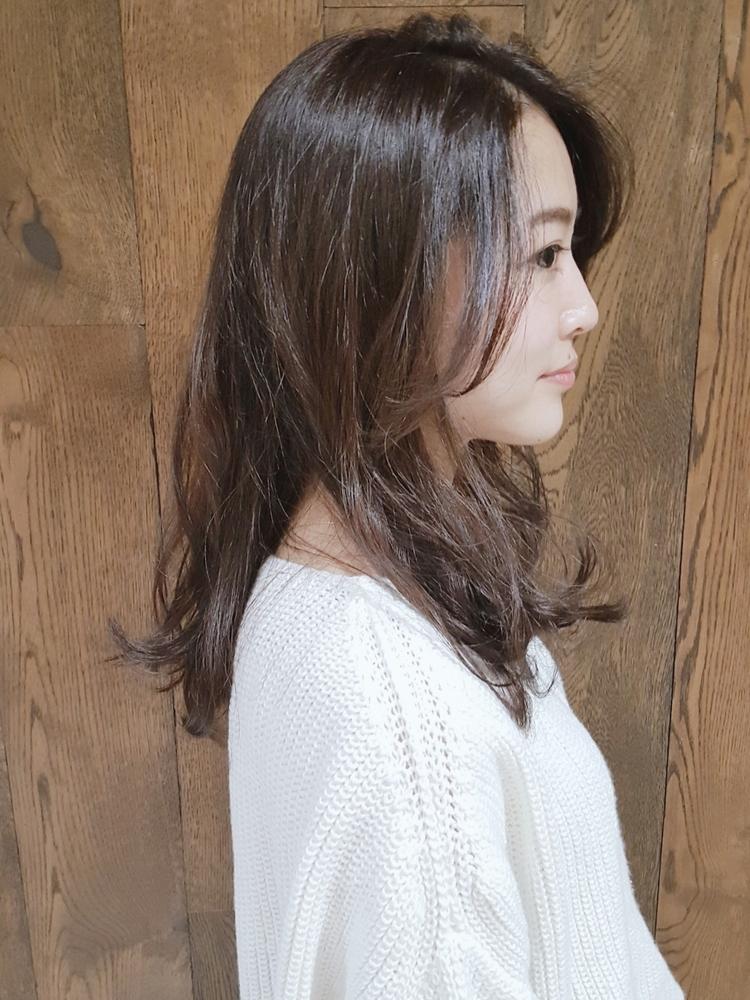 黒髪でも可愛く変身できるヘア