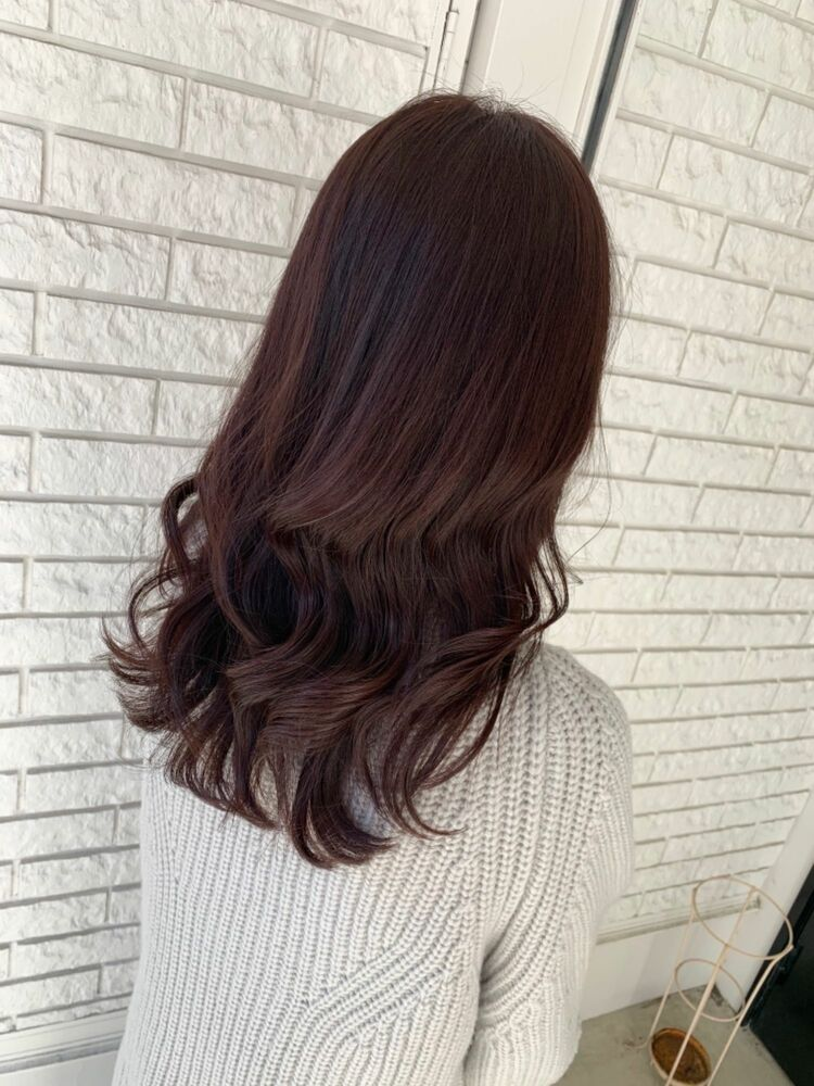 色っぽ艶髪ピンクバイオレット