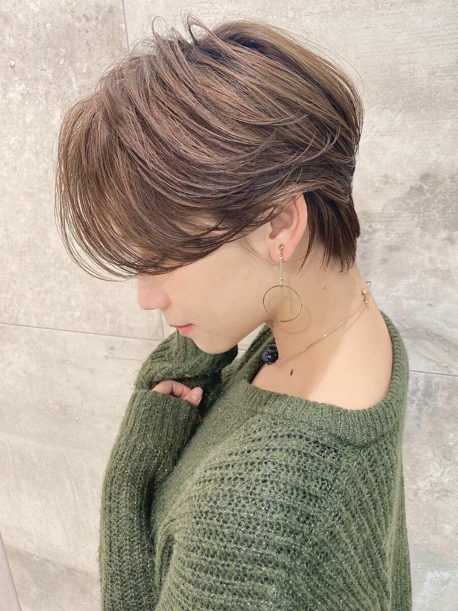 前髪なしハンサムショート